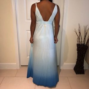 Blue ombré maxi dress